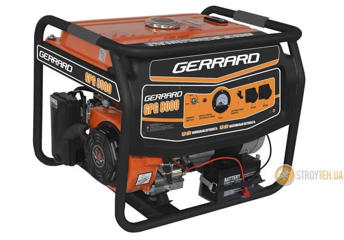 Генератор бензиновый 6 кВт однофазный Gerrard GPG8000, фото 2