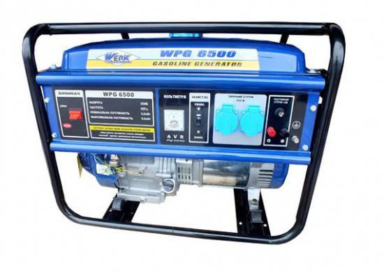 Генератор бензиновый 5 кВт однофазный Werk WPG6500, фото 2