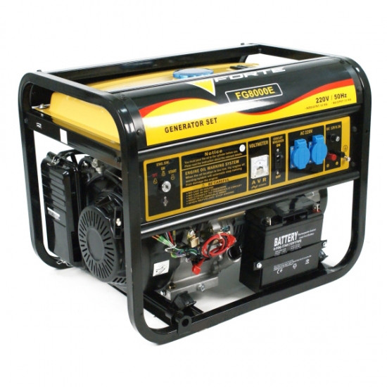 Генератор бензиновий 5,5 кВт однофазний Forte FG8000E