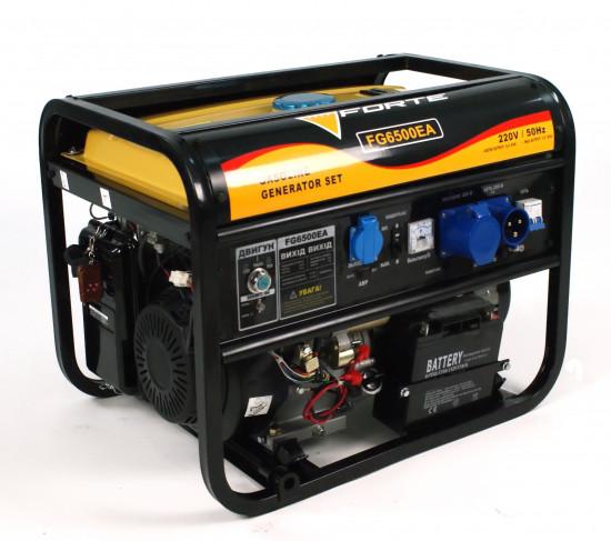Генератор бензиновый 5 кВт однофазный Forte FG6500EA