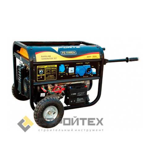 Генератор бензиновый 5 кВт однофазный Forte FG6500EA, фото 2