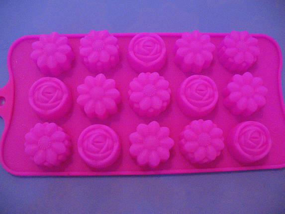 Форма силикон для конфет Цветочное ассорти, фото 2