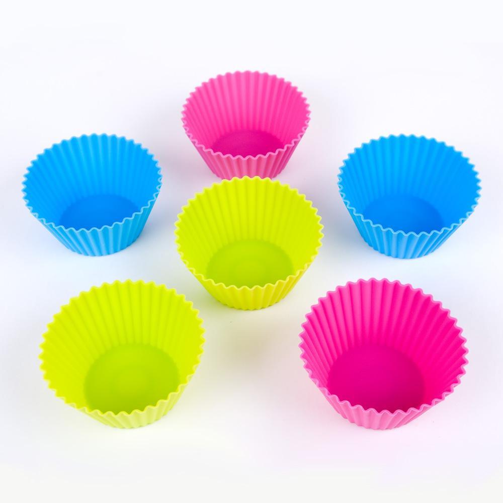 Набор силиконовых тарталеток (классик ) для кексов (6 штук) БОЛЬШИЕ