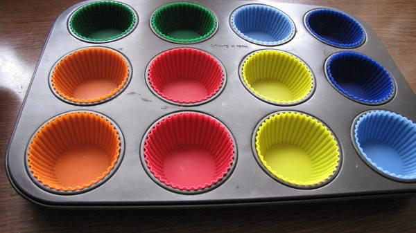 Набор силиконовых тарталеток (классик ) для кексов (6 штук) БОЛЬШИЕ, фото 2