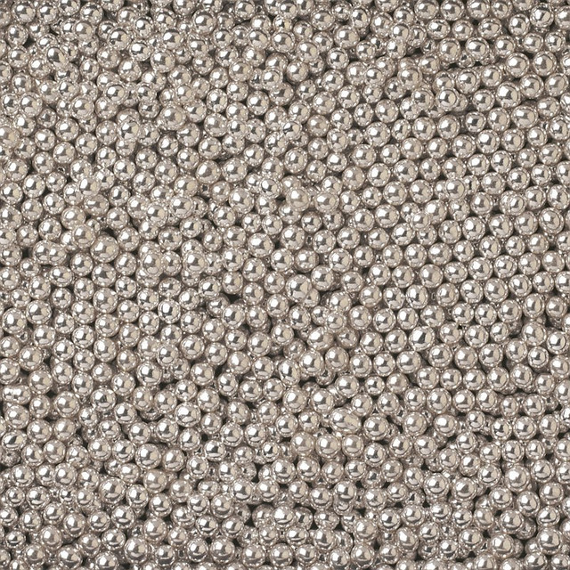 Посыпка шарики серебро 1 мм, 50 грамм