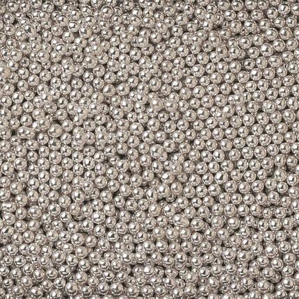 Посыпка шарики серебро 1 мм, 50 грамм, фото 2