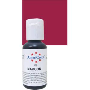 Краситель гелевый Americolor Темно - бордовый (Maroon), фото 2