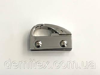 Карабін бічній нікель 34х21х8 мм.