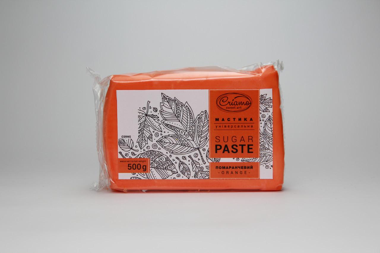 Мастика для тортов Criamo Оранжевая обтяжка 0.5 кг