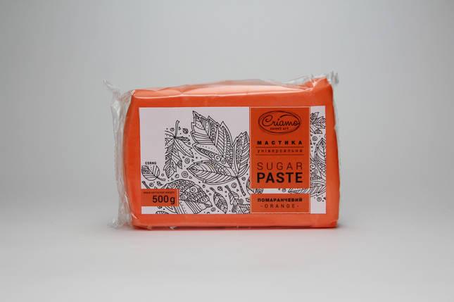 Мастика для тортов Criamo Оранжевая обтяжка 0.5 кг, фото 2