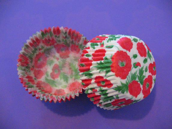 Тарталетки (капсулы) бумажные для кексов, капкейков Маки, фото 2
