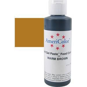 Краситель гелевый AmeriColor (Америколор) Коричневый 128 грамм, фото 2