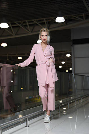 Женский костюм свободного кроя с карманами, фото 2