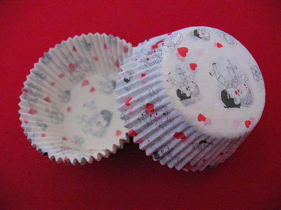 Тарталетки (капсулы) бумажные для кексов, капкейков Love is, фото 2