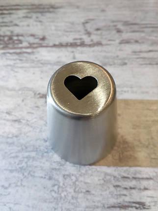 Насадка бесшовная кондитерская метал. Сердце, фото 2