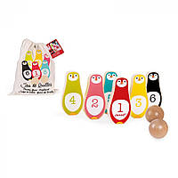 Игра с кеглями Janod Пингвины J08131