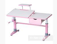 Парта-трансформер FunDesk Ballare с выдвижным ящиком Pink