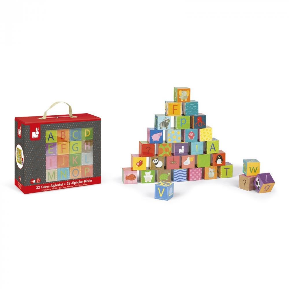 Кубики картонные Janod Алфавит J02993