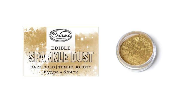 Пудра - блеск пищевая Темное золото Criamo 2г., фото 2