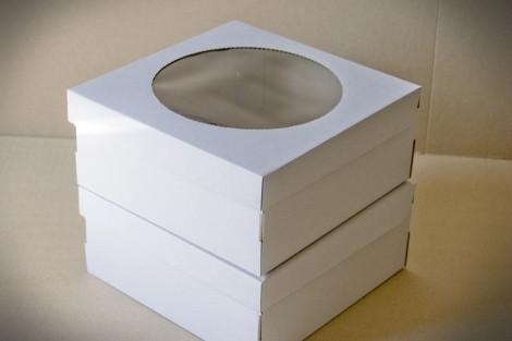 Коробки для тортов, чизкейков, пирожных (Упаковка 3 шт.) 25х25х11см