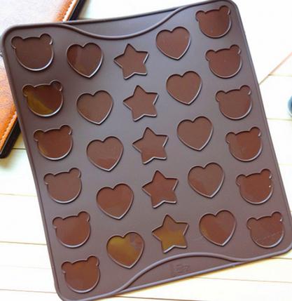 Коврик для выпечки Macarons (Макаронс) фигурный (цвет коврика в ассортименте), фото 2