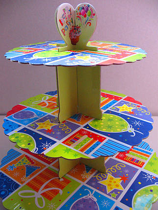 Этажерка для капкейков Праздник 2 из 3-х ярусов, фото 2