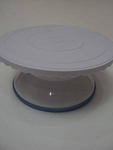 Стойка для торта вращающаяся пластик высота 12 см