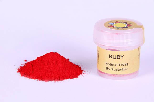 Краска сухая для цветов Sugarflair рубин, фото 2