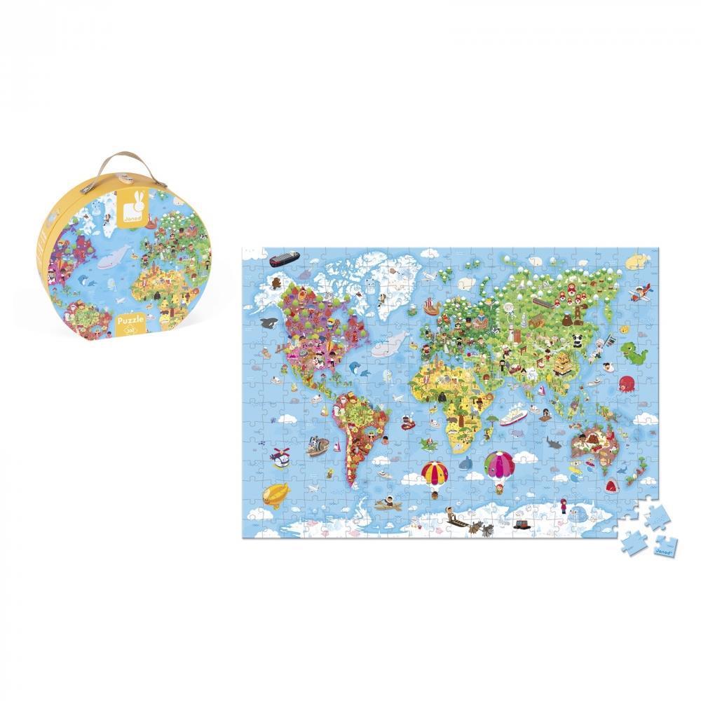 Пазл Janod Карта мира 300 эл. J02775
