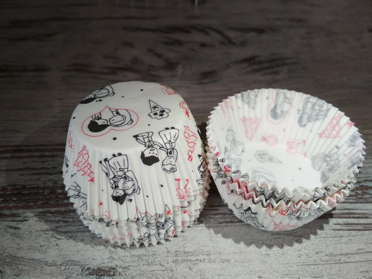 Тарталетки (капсулы) бумажные для кексов, капкейков свадьба