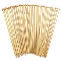 36шт 18 Размеры Бамбук с одной головкой Вязальные спицы Шапка Вязальные крючки для крючков вязания крючком