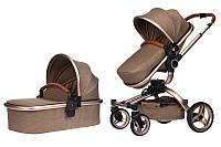 Универсальная коляска 2в1 Miqilong V baby X159 Brown (X159-02), фото 1