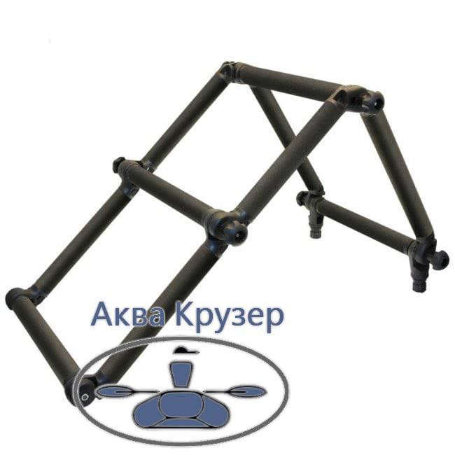 Лестница Borika FASTen Fl032k складная d=32 мм из алюминиевой трубы черного цвета для лодок