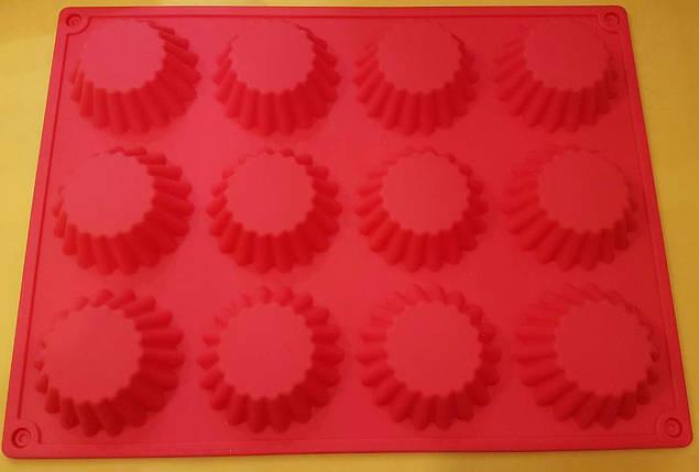 Форма силиконовая кексы мал.12 шт., фото 2