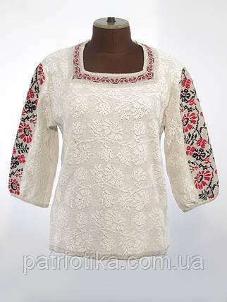 Стильная женская вязаная вышиванка | Стильна жіноча в'язана вишиванка, фото 2