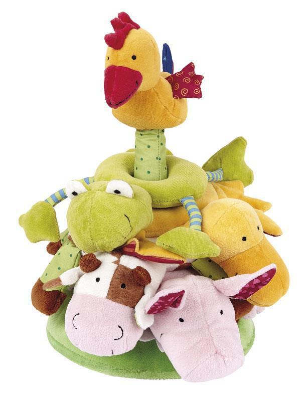 Мягкая игрушка sigikid Пирамидка с животными 30 см 49419SK