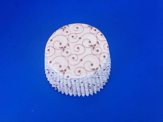 Тарталетки (капсулы) бумажные для кексов, капкейков ажурные, фото 2