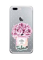 Чехол Print fashion для iPhone 8 Plus с принтом Цветы (r_i 5)
