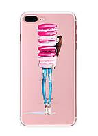 Чехол Print fashion для iPhone 7 Plus с принтом Макарон (r_i47)