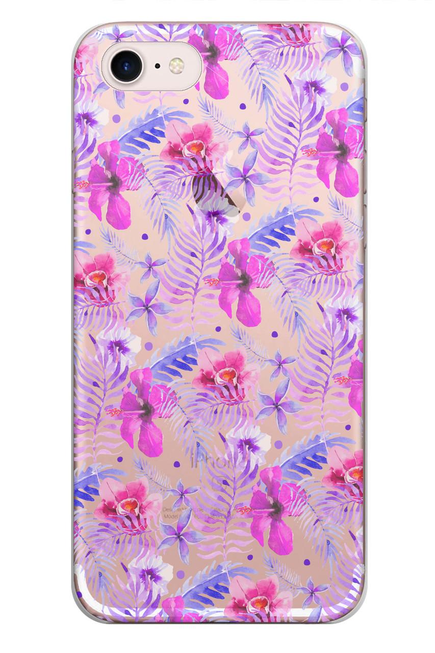 Чехол Print fashion для iPhone 7 с принтом Цветы (r_i81)
