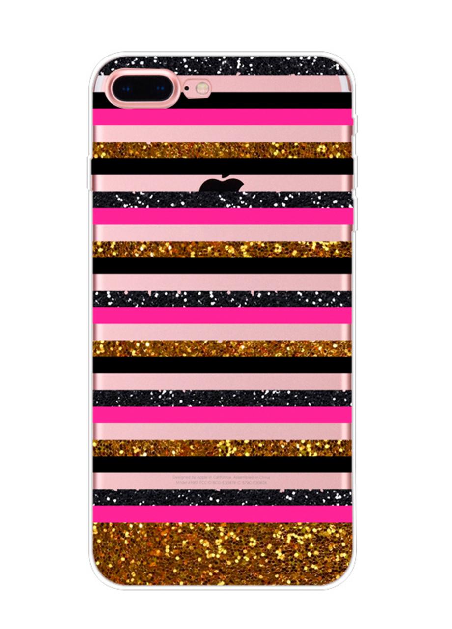 Чехол Print fashion для iPhone 8 Plus с принтом Полосы (r_i 67)
