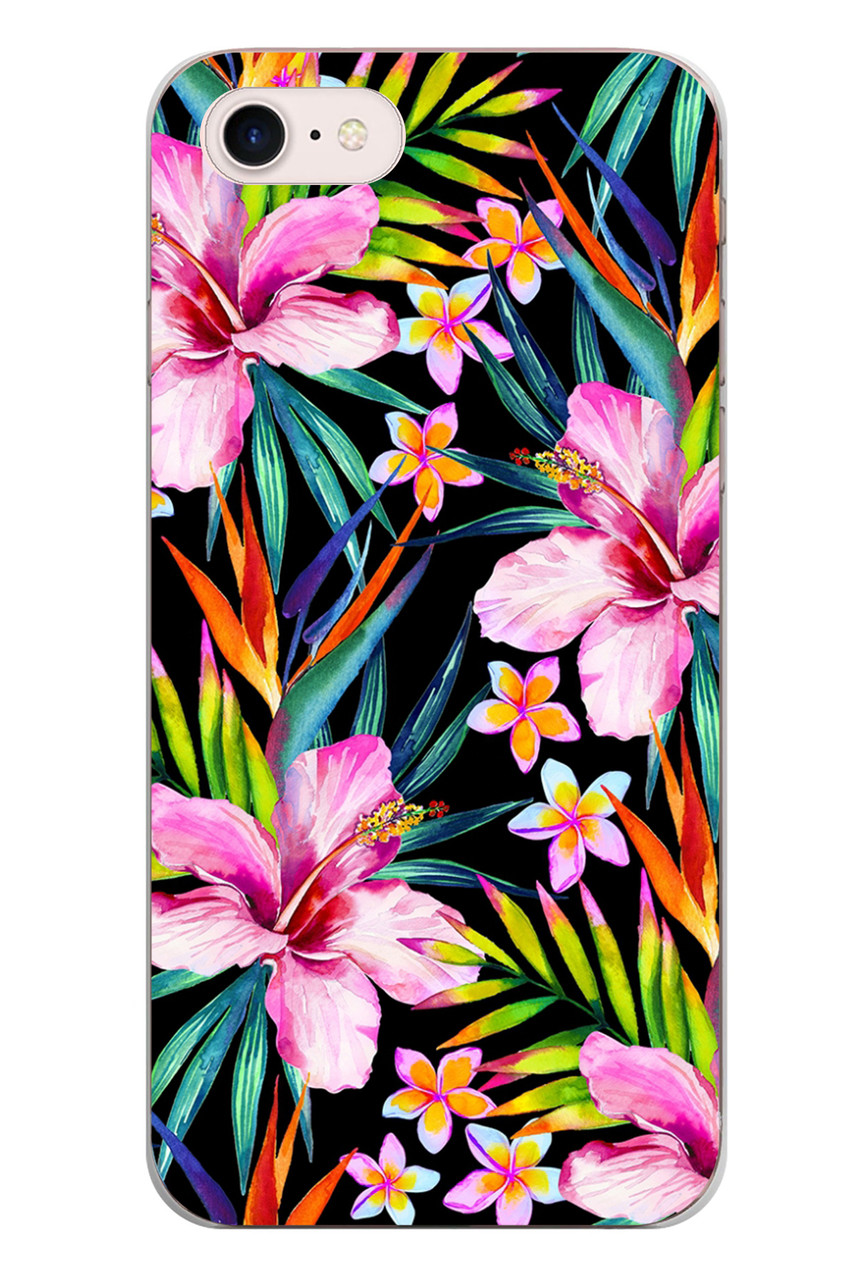 Чехол Print fashion для iPhone 7 с принтом Цветы (r_i28)