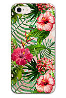 Чехол Print fashion для iPhone 7 с принтом Цветы (r_i92)