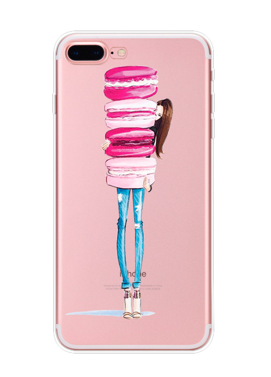 Чехол Print fashion для iPhone 8 Plus с принтом Макарон (r_i 47)