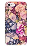 Чехол Print fashion для iPhone 7 с принтом Цветы (r_i85)