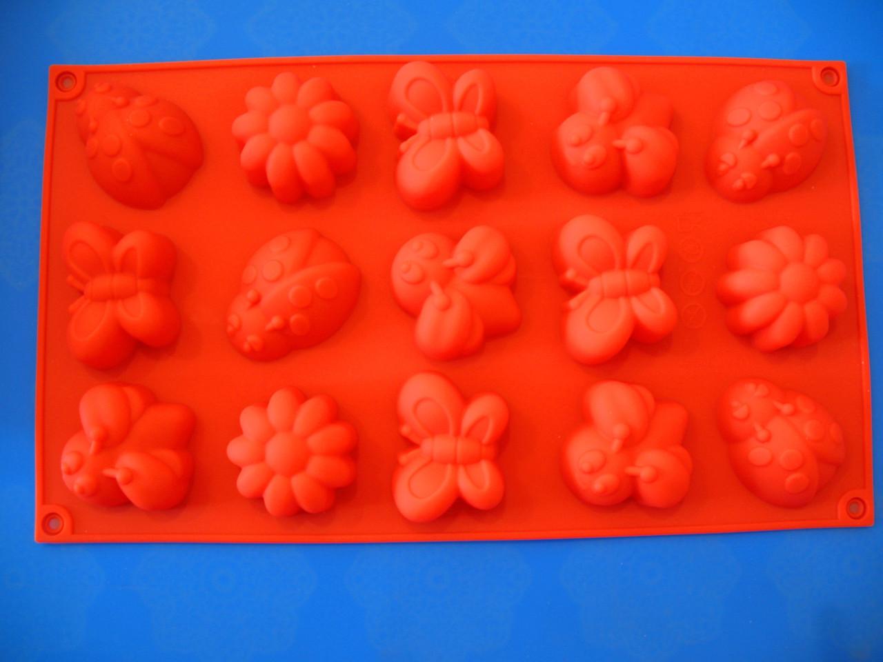 Форма силиконовая Насекомые 2