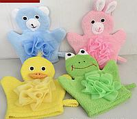 Мочалки - рукавички - игрушки