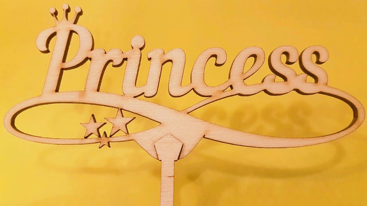 """Топпер деревянный """"Princess"""" 1 шт."""