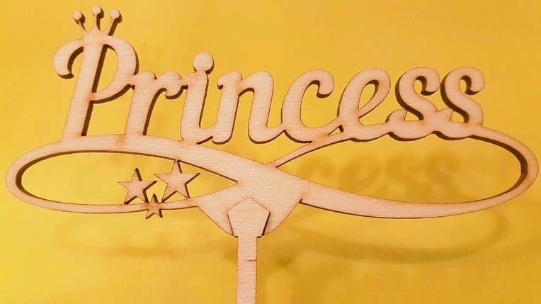 """Топпер деревянный """"Princess"""" 1 шт., фото 2"""