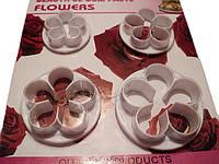 Набор кондитерских форм Роза из 4-х для мастики Цветы